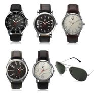 Combo of 5 Rico Sordi Analog Wrist Watches + 1 Aviator Sunglasses_574s6wsg
