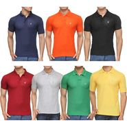 Pack of 7 Rico Sordi Half Sleeves Plain Tshirts_RSD757