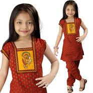 Little India Rajasthani Bagru Designer Cotton Salwar Suit - DLI3GED109B