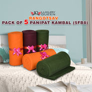 Rangotsav Pack of 5 Panipat Kambal (5FB8)