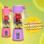 Rechargeable Blender with Power Bank