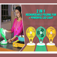 Rechargeable Folding Fan with LED Light (IF1)