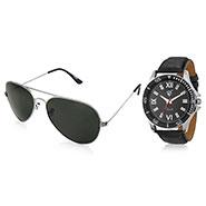 Combo of Rico Sordi Analog Wrist Watch + Sunglasses_12398215