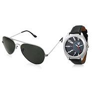 Combo of Rico Sordi Analog Wrist Watch + Sunglasses_12398213
