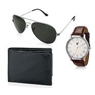Combo of Rico Sordi Analog Wrist Watch + Sunglasses + Wallet_12398217