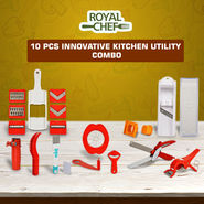 Royal Chef 10 Pcs Innovative Kitchen Utility Combo
