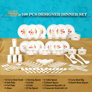 108 Pcs Designer Dinner Set
