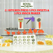 Royal Chef 21 Pcs Kitchen Press + 9 Pcs Sweets & Snack Maker