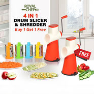 Royal Chef 4 in 1 Drum Slicer & Shredder - Buy 1 Get 1 Free