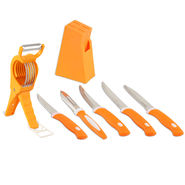 Royal Chef 5 Pcs Knife Set + Leafy Vegetable Cutter