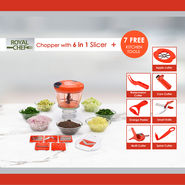 Royal Chef Chopper with 6 in 1 Slicer + Free Kitchen Tools