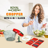 Royal Chef Chopper with 6 in 1 Slicer