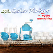 Royal Chef Gola Maker + Free 12 Serving Bowls