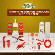 Royal Chef Innovative Kitchen Products - Buy 5 Get 5 Free