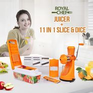 Royal Chef Juicer + 11 In 1 Slice & Dice