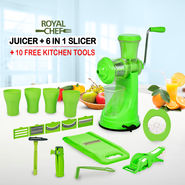 Royal Chef Juicer + 6 in 1 Slicer + 10 Free Kitchen Tools