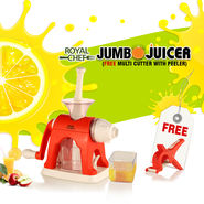 Royal Chef Jumbo Juicer + Free Multi Cutter with Peeler NT5
