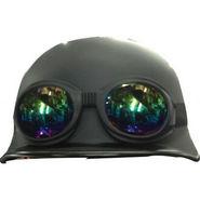 Royal Enfield German Style Helmet with Goggles - Matt Black