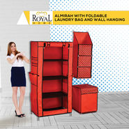 Royal Home Almirah with Foldable Laundry Bag And Wall Hanging