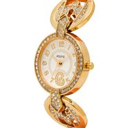 Adine Analog Round Dial Wrist Watch For Women_Rsw05 - White
