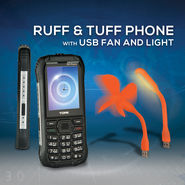 Ruff & Tuff Phone with USB Fan And Light