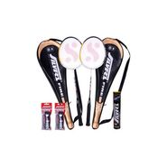 Silver's Pack of 1 Fire Badminton Kit - Multicolor