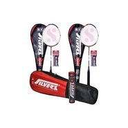 Silver'S Pack Of 2 Suzuki Badminton Racquet With Full Cover(Assorted) + 2 Pvc Grip +  Kitbag + Box Suzuki Shuttle Cock (Pack Of 10)