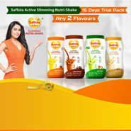 Saffola Active Slimming Nutri-Shake - 15 Days Trial Pack - Any 2 Flavours