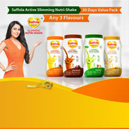 Saffola Active Slimming Nutri-Shake - 30 Days Value Pack - Any 3 Flavours