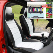 Samsun Car Seat Cover for Mahindra Bolero - Black & White