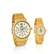 Scottish Club Couple Watch - Chrono with Gold Strap