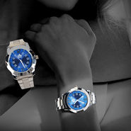Scottish Club Couple Watch Combo - Blue Dial