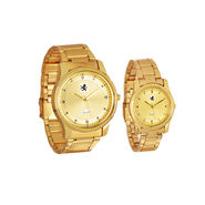 Scottish Club Couple Watch Combo - Full Gold