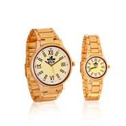 Scottish Club Couple Watch with Gold Strap