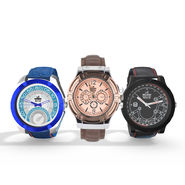 Scottish Club Set of 3 Men's Leatherite Watch Combo