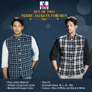 Scottish Club Set of Two Nehru Jackets for Men
