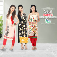 Sejal Pack of 3 Digital Printed Kurtis (PO3K2)