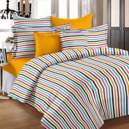Storyathome  Cotton Multi-color 2 Single Bedsheet with 2 Pillow Cover-TR1204