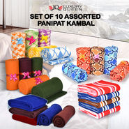 Set of 10 Assorted Panipat Kambal