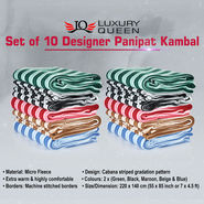 Set of 10 Designer Panipat Kambal