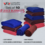 Set of 10 Fleece Blankets