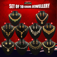Set of 10 Grand Jewellery by Vellani