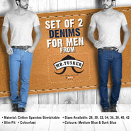 Set of 2 Denims for Men from Mr. Tusker