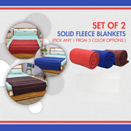 Set of 2 Solid Fleece Blankets (2FB1)