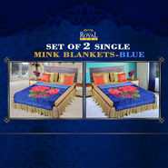Set of 2 Mink Blankets - Blue