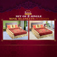 Set of 2 Mink Blankets - Maroon