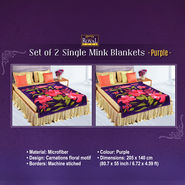 Set of 2 Mink Blankets - Purple