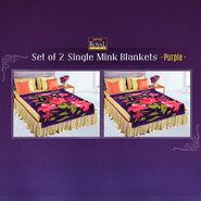 Set of 2 Single Mink Blankets - Purple