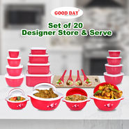 Set of 20 Designer Store & Serve
