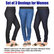 Set of 3 Denings for Women